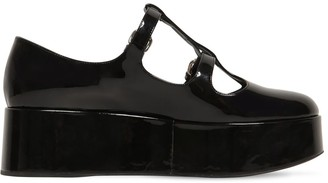 Miu Miu 50mm Patent Leather Wedges