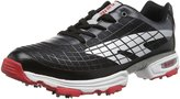 Hi-Tec HT Hybrid Flow Spikes Mens Rubber/Mesh Golf Shoes - Waterproof /Silver/Red 9UK