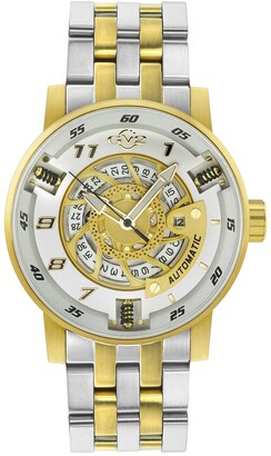 Gevril Men's Five Points Swiss Automatic Watch, 49mm