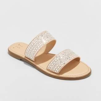 A New Day Women's Kersha Embellished Slide Sandals