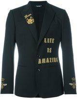 Dolce & Gabbana 'Life is amazing' blazer
