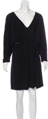 Alexander McQueen Knee-Length Dolman Sleeve Dress