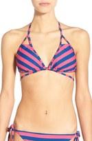 BP Stripe Crisscross Front Bikini Top
