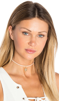 Luv Aj Leather Wrap Charm Choker