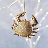 west elm Gilded Glass Animal Ornament - Crab