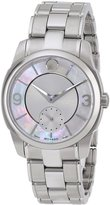 Movado 606618 Women's Lx Stainless Steel -Tone And White Mop Dial Watch