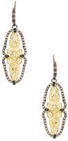 Armenta Old World 18K Gold, Tourmaline & 0.54 Total Ct. Diamond Open Scalloped Drop Earrings