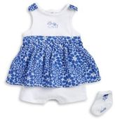 Absorba Baby Girls Skirted Romper and Socks Set