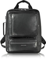 Armani Jeans Black Eco Leather Backpack