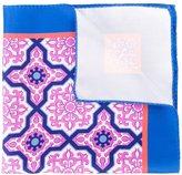 Kiton moroccan tile print pocket square
