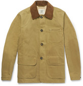 Kent & Curwen Kingsgate Corduroy-Trimmed Cotton-Twill Field Jacket