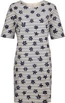 Chinti and Parker Printed Stretch-Cotton Mini Dress