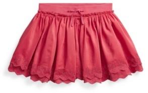Polo Ralph Lauren Big Girls Eyelet Scooter Skirt