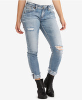 Silver Jeans Co. Kenni Ripped Girlfriend Jeans