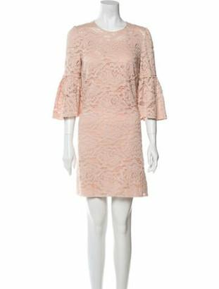Dolce & Gabbana Lace Pattern Mini Dress Pink