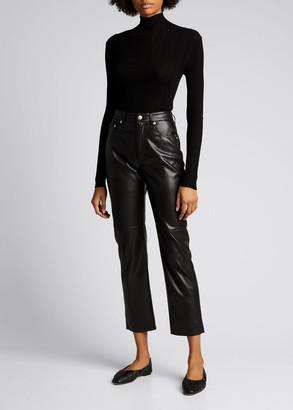 Nanushka Vinni Faux-Leather Ankle Pants