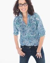 Chico's Gabrielle Paisley Shirt