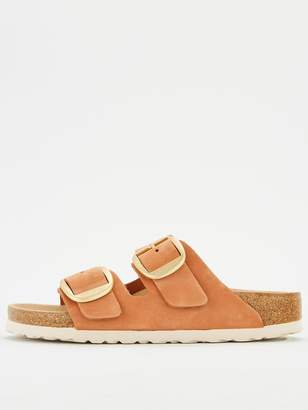 Birkenstock Arizona Double Strap Big Buckle Flat Sandal - Brandy