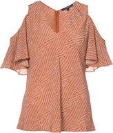 Derek Lam cut-off shoulders V-neck blouse - women - Silk - 46