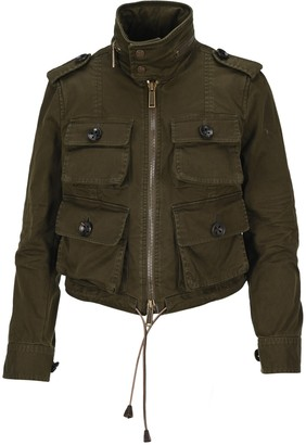 DSQUARED2 Fitted Cropped Twill Jacket