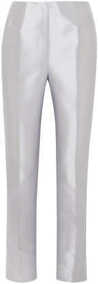 Gabriela Hearst Masto Silk And Wool-blend Slim-leg Pants
