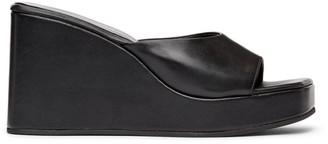 Simon Miller Black Level Wedge Sandals
