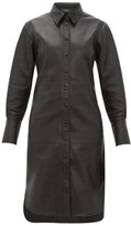 Joseph Brann Leather Shirtdress - Womens - Black