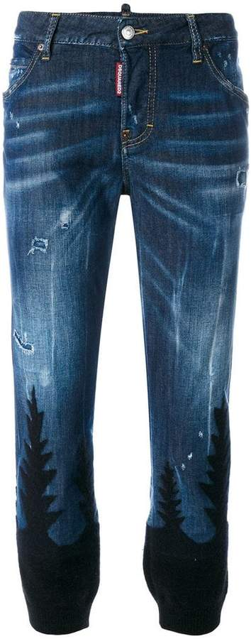 DSQUARED2 patterned Cool Girl jeans