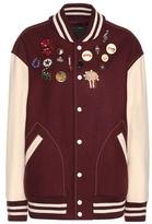 Marc Jacobs Embellished Wool-blend Bomber Jacket
