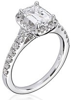 "Scott Kay Luminaire"" Semi Mount Diamond Engagement Ring in 14K White Gold (1/2 cttw)"