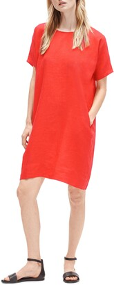 Eileen Fisher Short Sleeve Organic Linen Dress