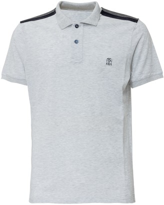 Brunello Cucinelli Logo Shoulder Detail Embroidered Polo Shirt