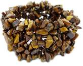 jennysun2010 30mm Wide Natural Gemstone Chip Nugget Beaded Fashion Stretchy Bracelet Healing 1 Strand 6'' Inches Wrist