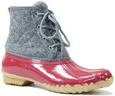 Western Chief Red & Gray Quilted-Wool Four Eye Duck Boot - Women