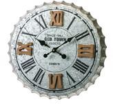 Cape Craftsmen Galvanized Metal Wall Clock