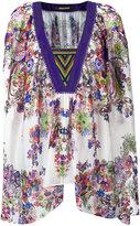 Roberto Cavalli V-neck handkerchief tunic