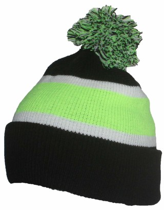 Best Winter Hats Quality Cuffed Cap with Large Pom Pom (One Size)(Fits Large Heads) - Multi - One Size