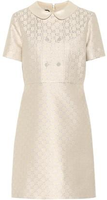 Gucci GG lame wool-blend minidress