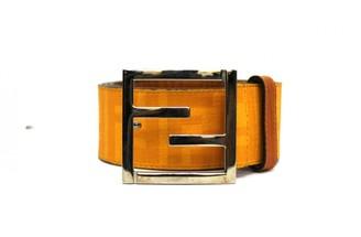 Fendi Orange Cloth Belts