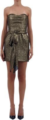 Saint Laurent Sleeveless Golden Dress