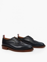 Thom Browne Navy Leather Wingtip Brogues