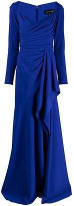 Tadashi Shoji Yahya draped crepe gown