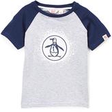 Original Penguin Heather Gray & White Splatter Short-Sleeve Raglan Top - Toddler & Boys