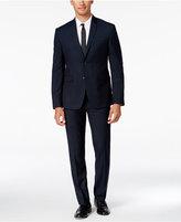 Perry Ellis Portfolio Men's Extra Slim-Fit Green Grid Suit