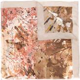 Salvatore Ferragamo paint splatter scarf
