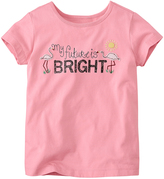 Hanna Andersson Starfish Pink 'My Future Is Bright' Mixed-Media Art Tee