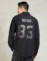 Les (Art)ists Black WANG83 Football Oxford Shirt