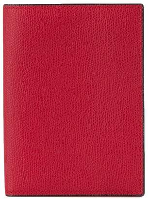 Valextra grained-effect passport holder