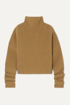 Petar Petrov Kate Ribbed Cashmere Turtleneck Sweater - Beige