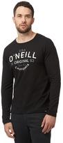 O'neill Black Logo Print Top